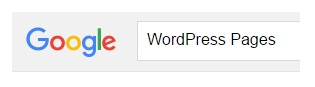 google WP Pages search