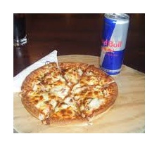 pizza red bull