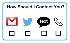 preferred contact method