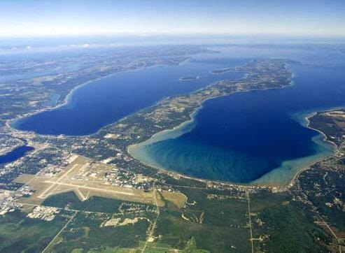 Traverse City, both bays