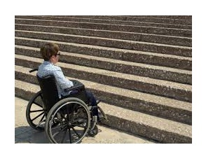 wheelchair by steps