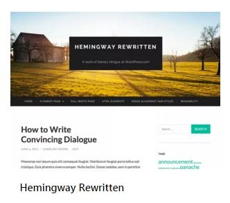WordPress theme Hemingway Rewritten