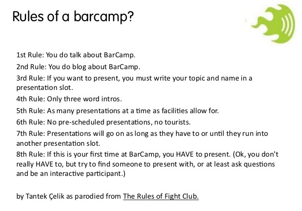 rules of barcamp