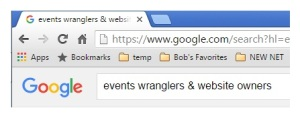 events wranglers & website owners