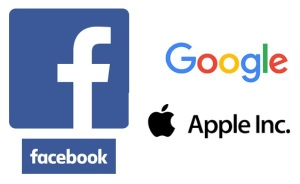 facebook apple google