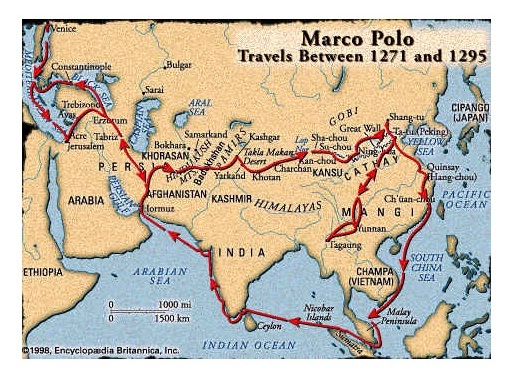 Marco Polo, Silk Road