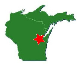 wisconsin and UP with star