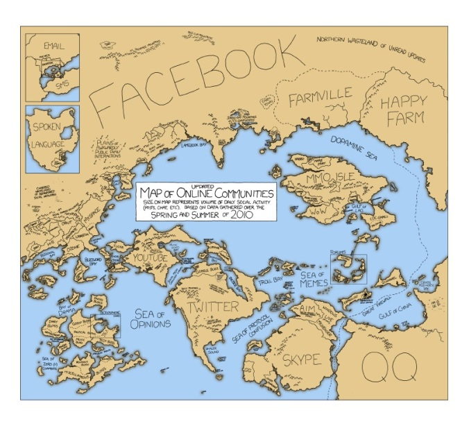 xkcd map of internet communities