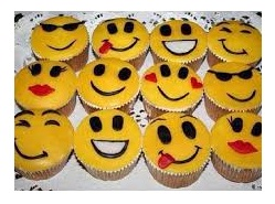 cupcakes with emoticons
