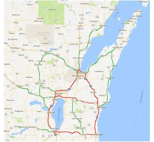 NE Wisc Reboot Roads, red, green