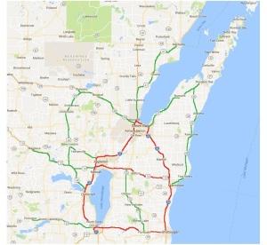 NE Wisc Reboot Roads, red, green