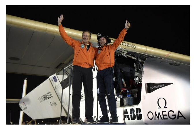 Solar Impulse 2, Félicitations Betrand et André