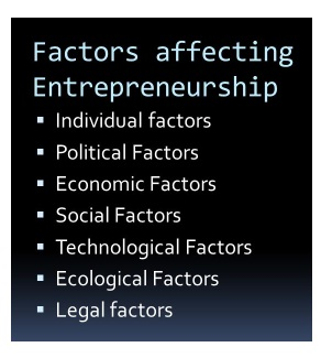 entrepreneurship factors